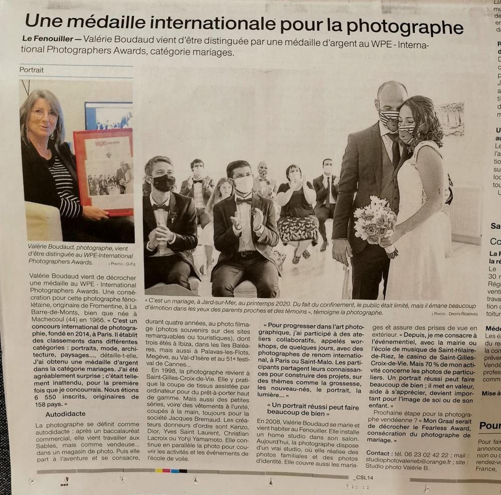 la presse parle du studio photo Valérie B